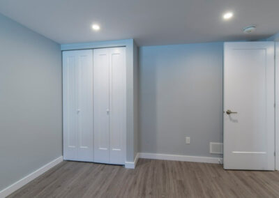 Finished room and closet