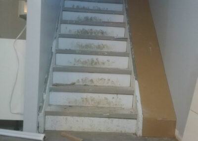 Unfinished stairs